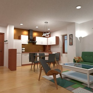 floorplans furniture decor living room kitchen 3d
