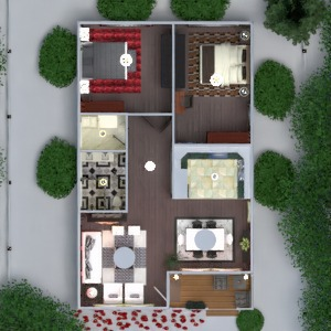 floorplans house terrace furniture decor bathroom bedroom living room kitchen outdoor lighting landscape household dining room architecture 3d