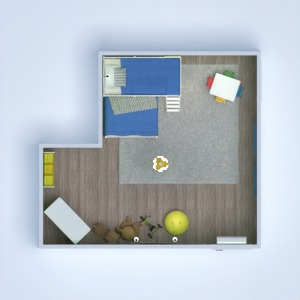 floorplans dekoras miegamasis vaikų kambarys apšvietimas renovacija 3d
