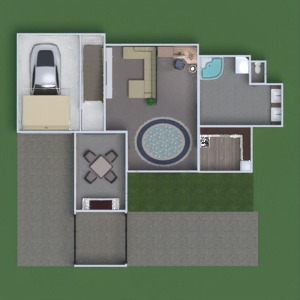 floorplans bathroom living room garage office dining room 3d