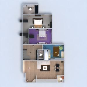 planos apartamento habitación infantil 3d