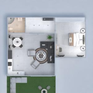 floorplans maison meubles salle de bains salon eclairage 3d