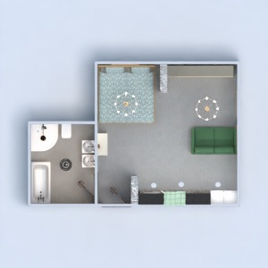 floorplans apartment house furniture studio 3d