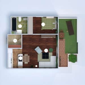 floorplans apartment terrace furniture decor bathroom bedroom living room kitchen lighting dining room 3d