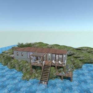 floorplans 独栋别墅 露台 卧室 户外 结构 3d