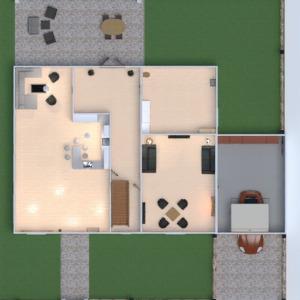 floorplans vonia virtuvė eksterjeras vaikų kambarys biuras 3d
