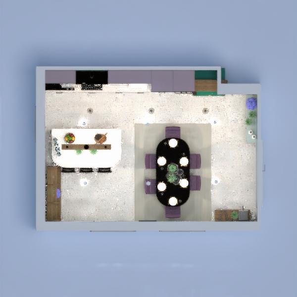 планировки дом декор кухня освещение столовая 3d