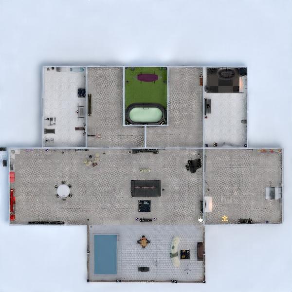 floorplans casa terraza dormitorio salón cocina 3d