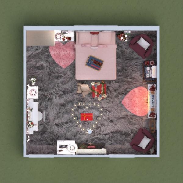 planos casa muebles decoración dormitorio estudio 3d