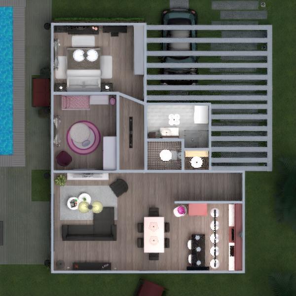 floorplans apartamento casa varanda inferior mobílias decoração casa de banho dormitório quarto cozinha quarto infantil iluminação paisagismo utensílios domésticos arquitetura despensa estúdio patamar 3d