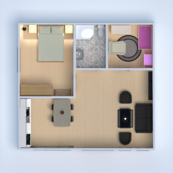 floorplans apartment house furniture decor bedroom 3d