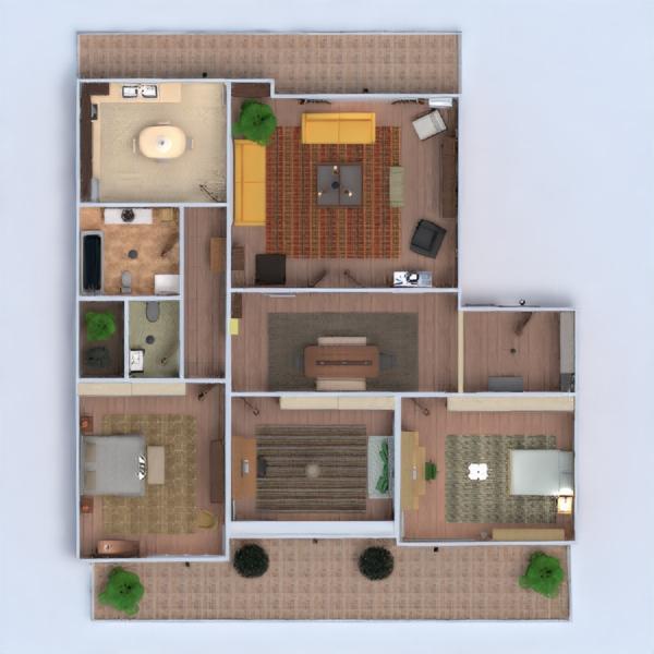 floorplans apartamento muebles decoración cuarto de baño dormitorio salón cocina habitación infantil despacho hogar comedor arquitectura descansillo 3d