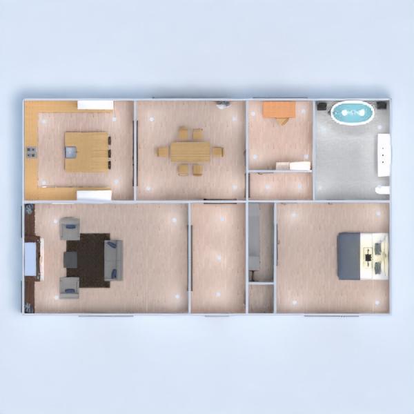 floorplans dom łazienka sypialnia pokój dzienny gospodarstwo domowe 3d