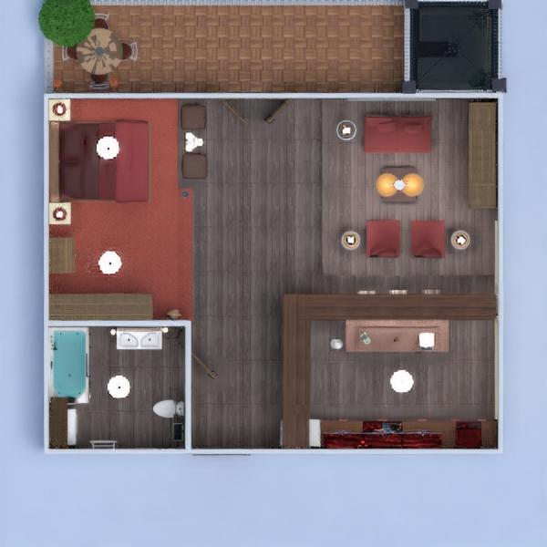 floorplans apartamento varanda inferior mobílias decoração faça você mesmo casa de banho quarto cozinha iluminação reforma paisagismo utensílios domésticos cafeterias sala de jantar arquitetura despensa patamar 3d
