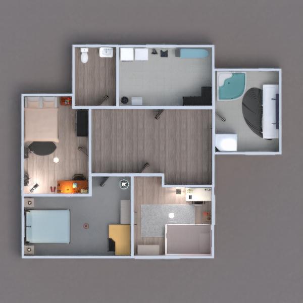 floorplans casa dormitorio cocina habitación infantil arquitectura 3d