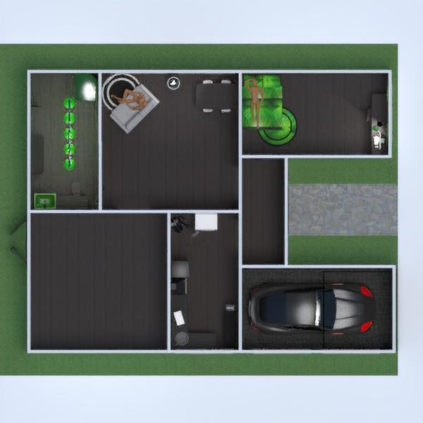 floorplans bagno camera da letto saggiorno garage cucina 3d
