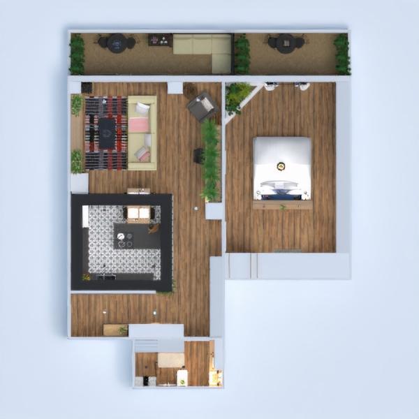 floorplans apartamento faça você mesmo dormitório quarto cozinha 3d