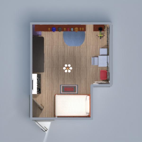 floorplans apartamento habitación infantil 3d