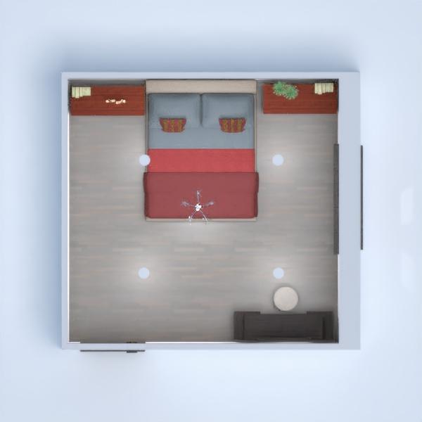 floorplans dom meble wystrój wnętrz sypialnia oświetlenie 3d