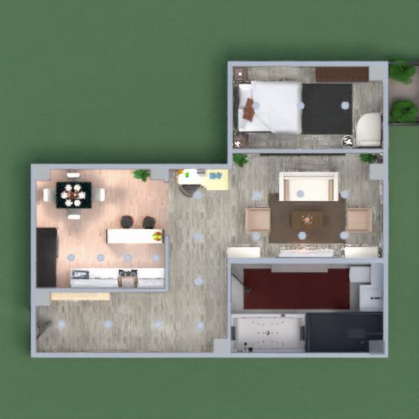 floorplans appartamento camera da letto illuminazione sala pranzo monolocale 3d
