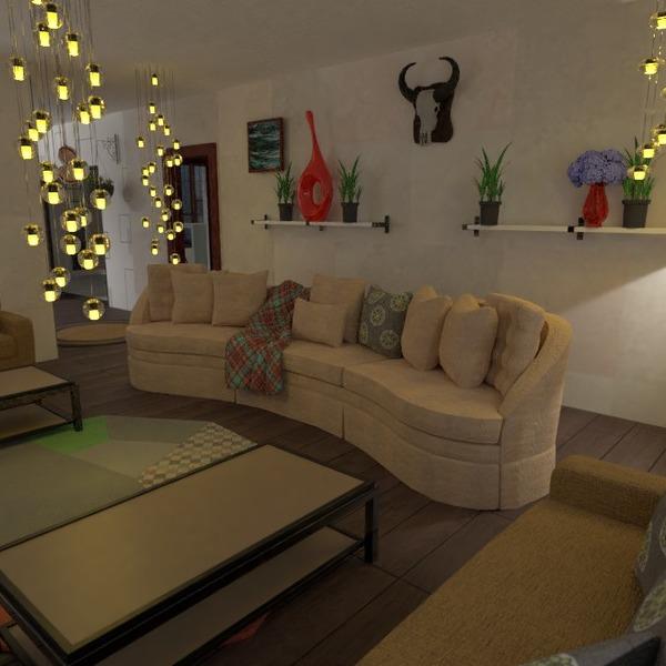 floorplans maison terrasse meubles eclairage salle à manger 3d