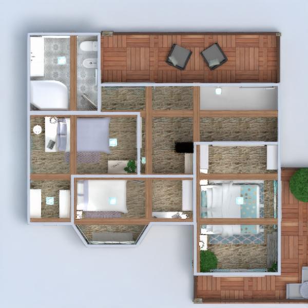 floorplans house terrace furniture bathroom bedroom living room garage kitchen dining room 3d