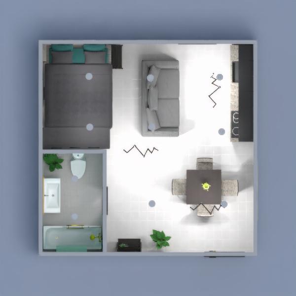 floorplans wohnung badezimmer küche 3d