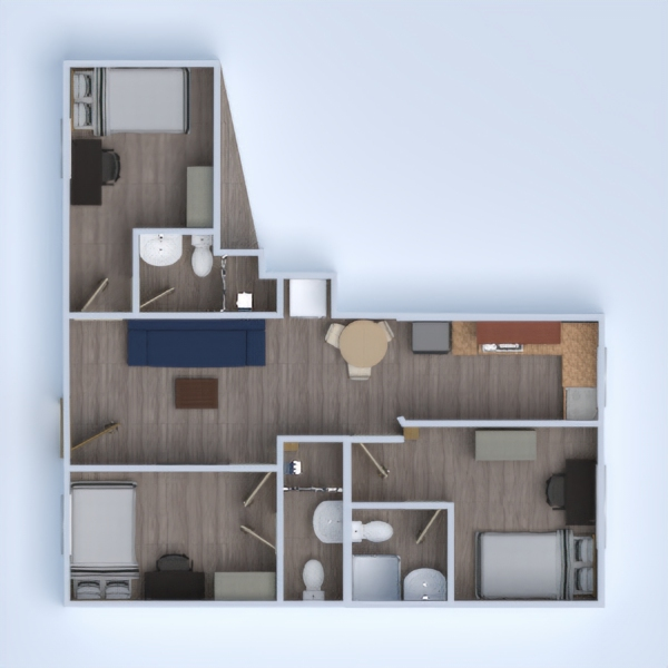 floorplans gospodarstwo domowe 3d
