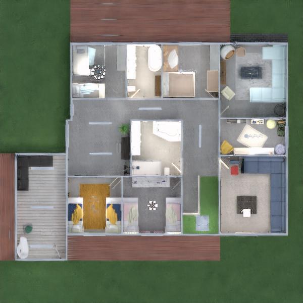 floorplans maison décoration extérieur eclairage 3d