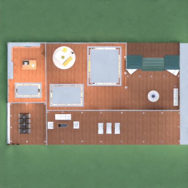 floorplans namas eksterjeras kraštovaizdis sandėliukas 3d
