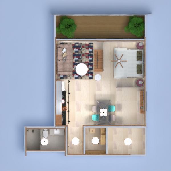 floorplans appartement décoration cuisine eclairage salle à manger architecture espace de rangement studio 3d