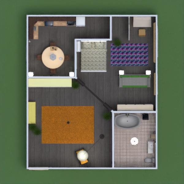 floorplans apartamento casa de banho dormitório quarto cozinha patamar 3d