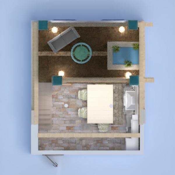 floorplans varanda inferior quarto cozinha sala de jantar 3d