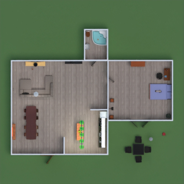 floorplans терраса ванная спальня гостиная кухня 3d