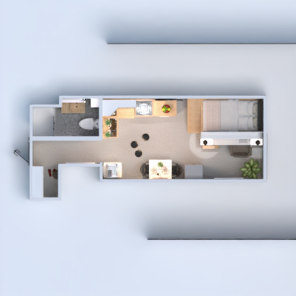 floorplans apartment decor kitchen office studio 3d