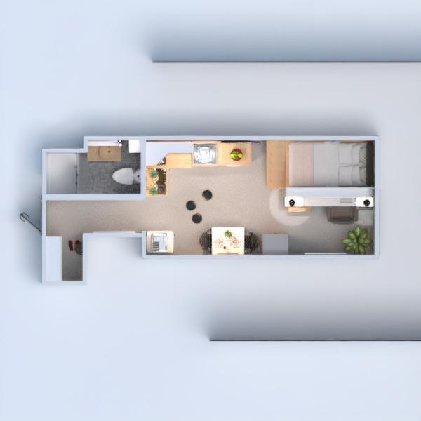 floorplans apartamento decoración cocina despacho estudio 3d