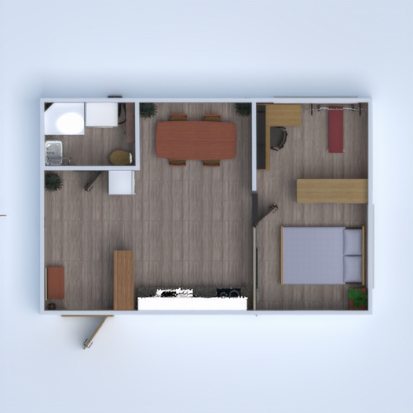 планировки квартира студия 3d