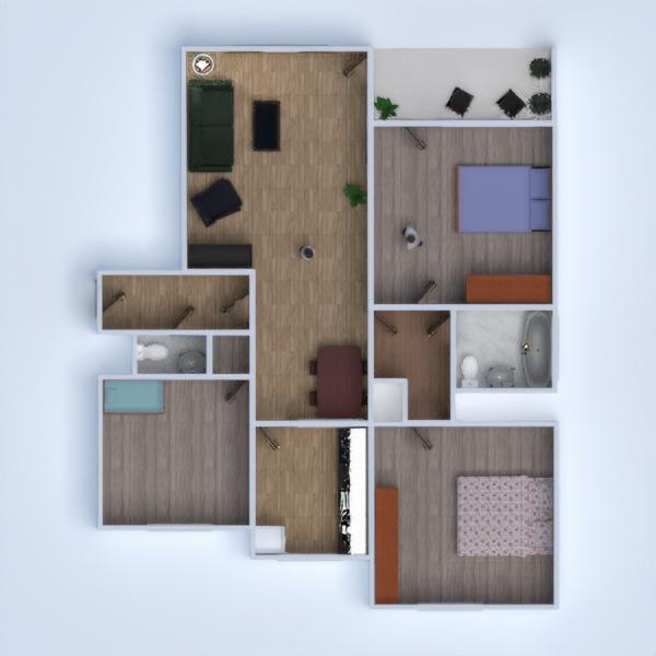 floorplans butas namas 3d