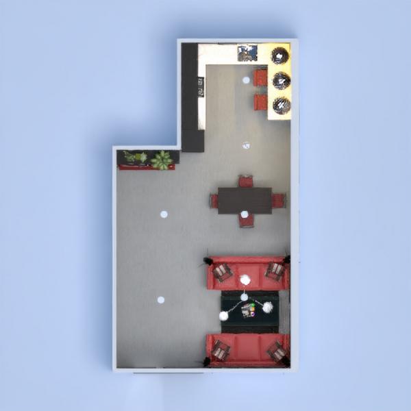 floorplans meble wystrój wnętrz biuro oświetlenie mieszkanie typu studio 3d