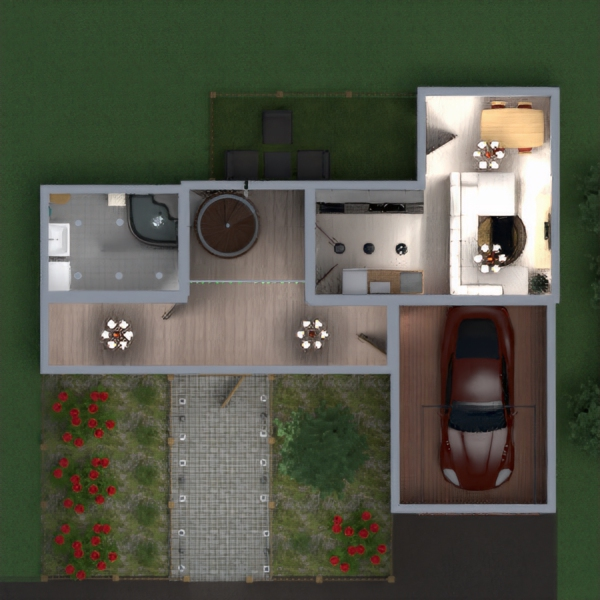 floorplans house bathroom bedroom garage architecture 3d