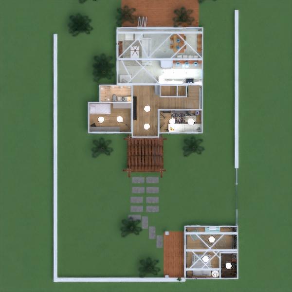 floorplans dom meble łazienka sypialnia pokój dzienny kuchnia na zewnątrz oświetlenie krajobraz gospodarstwo domowe jadalnia architektura przechowywanie mieszkanie typu studio wejście 3d