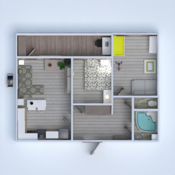 floorplans apartamento bricolaje salón habitación infantil reforma 3d