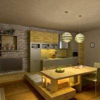 floorplans kitchen lighting dining room 3d
