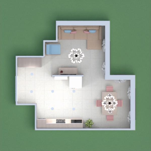 floorplans meubles décoration salon cuisine salle à manger 3d