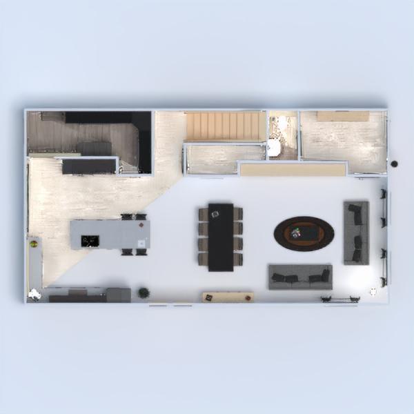 floorplans casa muebles salón cocina 3d