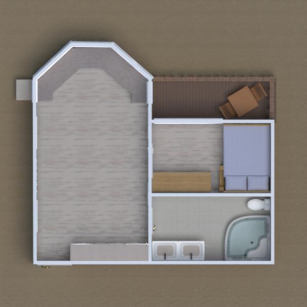 planos apartamento cuarto de baño dormitorio estudio 3d