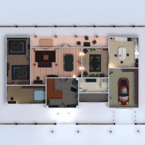 floorplans dom taras meble łazienka sypialnia pokój dzienny kuchnia 3d