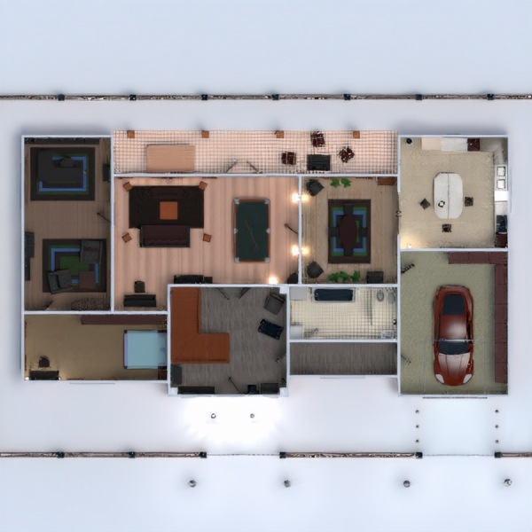 floorplans house terrace furniture bathroom bedroom living room kitchen 3d