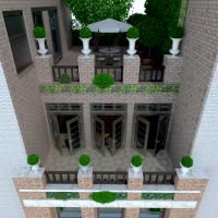 floorplans apartment terrace furniture landscape architecture entryway 3d