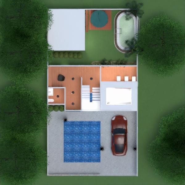 floorplans wohnung haus terrasse mobiliar badezimmer wohnzimmer garage küche outdoor beleuchtung landschaft architektur eingang 3d